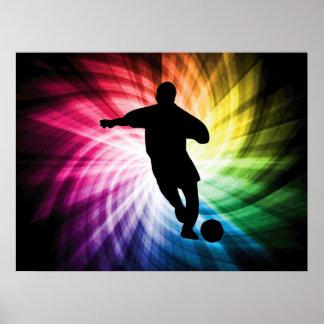 Jugador de fútbol; colorido poster