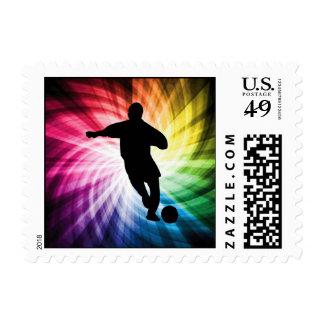 Jugador de fútbol; colorido sellos