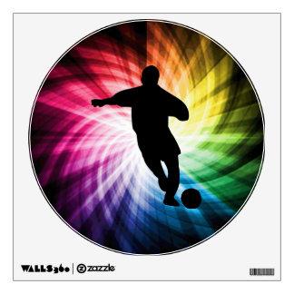 Jugador de fútbol; colorido vinilo