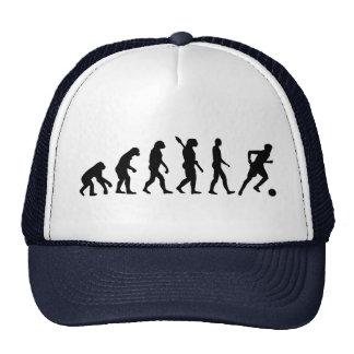 Jugador de fútbol de la evolución gorro