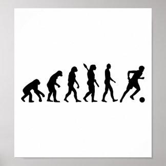 Jugador de fútbol de la evolución poster