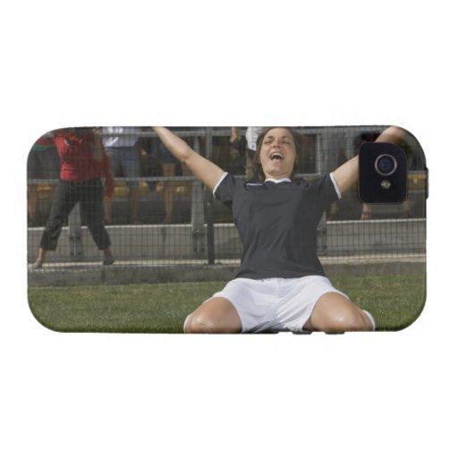 Jugador de fútbol de sexo femenino alemán que carcasa para iPhone 4/4S