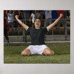 Jugador de fútbol de sexo femenino alemán que póster