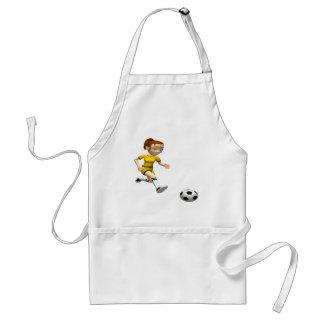 Jugador de fútbol de sexo femenino delantales
