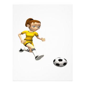 """Jugador de fútbol de sexo femenino folleto 8.5"""" x 11"""""""