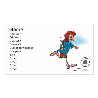 Jugador de fútbol de sexo femenino tarjetas de visita