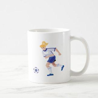 Jugador de fútbol de sexo femenino tazas