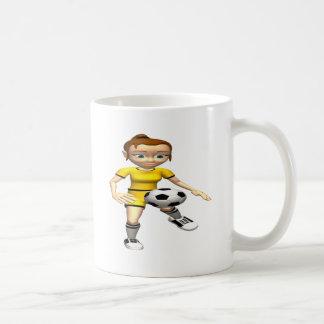 Jugador de fútbol de sexo femenino taza