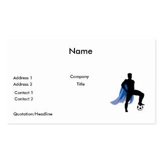 jugador de fútbol del héroe del supero tarjetas de visita