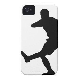jugador de fútbol iPhone 4 Case-Mate protectores