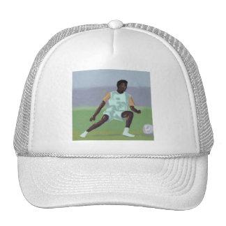 Jugador de fútbol, gorra