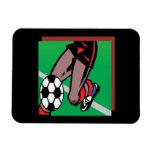 Jugador de fútbol imán flexible