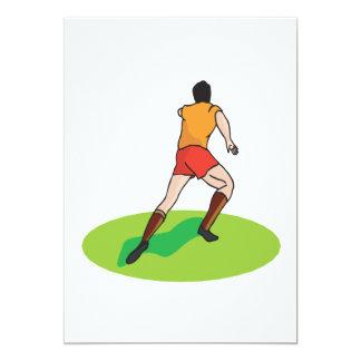 """Jugador de fútbol invitación 5"""" x 7"""""""