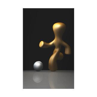 Jugador de fútbol impresión en lona estirada