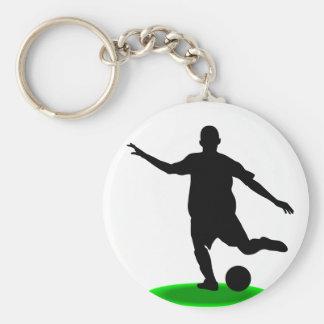 Jugador de fútbol llavero redondo tipo pin