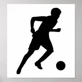 Jugador de fútbol posters