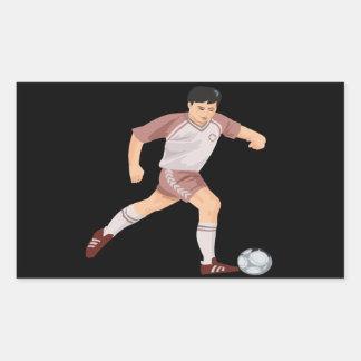 Jugador de fútbol rectangular altavoz