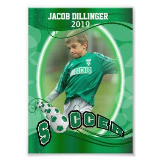 Jugador de fútbol - plantilla decorativa de la fotografía