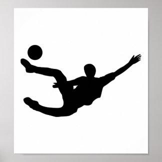 Jugador de fútbol póster