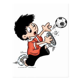 Jugador de fútbol postales