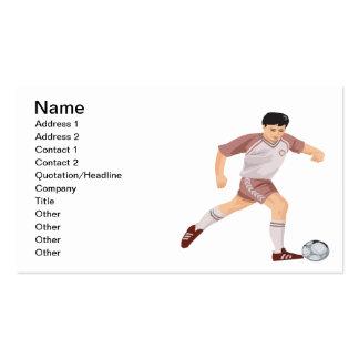 Jugador de fútbol tarjetas de visita