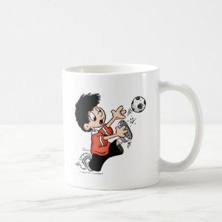 Jugador de fútbol tazas