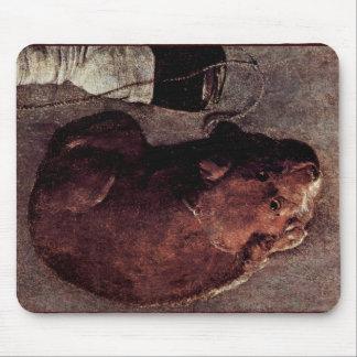Jugador de Ghironda (Hurdy Gurdy), con los perros Alfombrilla De Ratón