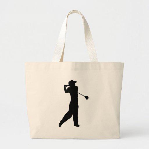 jugador de golf bolsa tela grande
