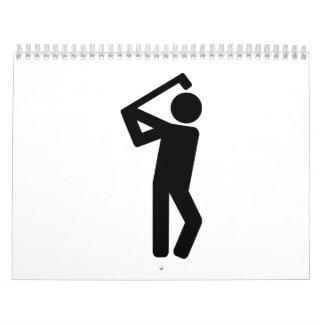 Jugador de golf calendarios de pared