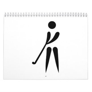Jugador de golf calendario de pared