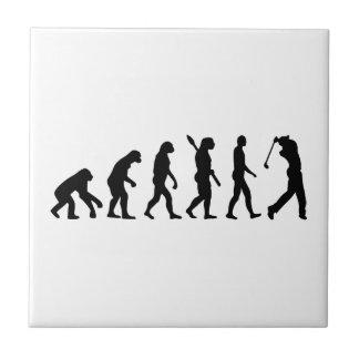 Jugador de golf de la evolución