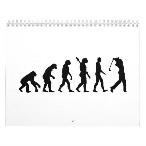 Jugador de golf de la evolución calendarios