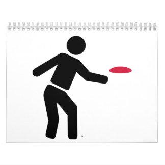 Jugador de golf del disco calendario