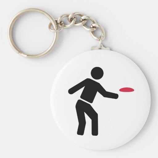 Jugador de golf del disco llavero personalizado