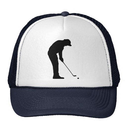 Jugador de golf gorra