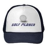 Jugador de golf gorro