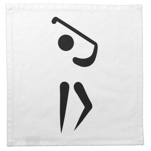 Jugador de golf servilletas imprimidas