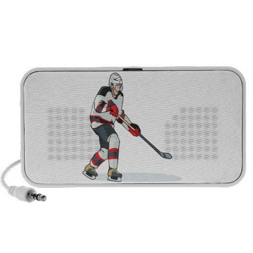 Jugador de hockey altavoz de viaje