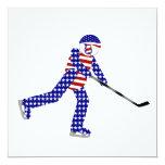 Jugador de hockey americano comunicado