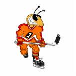 Jugador de hockey de la abeja fotoescultura vertical