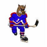 Jugador de hockey del jabalí esculturas fotográficas