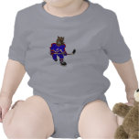 Jugador de hockey del jabalí trajes de bebé