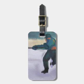 Jugador de hockey etiqueta del bolso etiqueta de equipaje