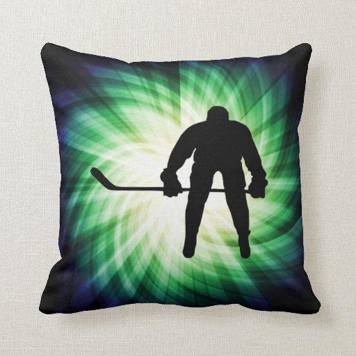 Jugador de hockey fresco almohada