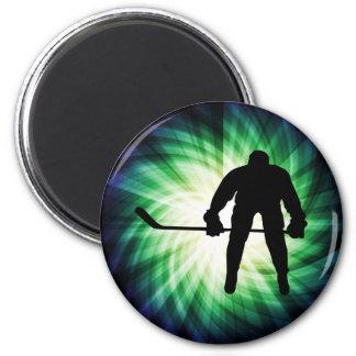 Jugador de hockey fresco imán de nevera