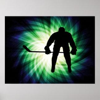 Jugador de hockey fresco poster
