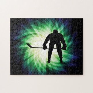 Jugador de hockey fresco rompecabeza