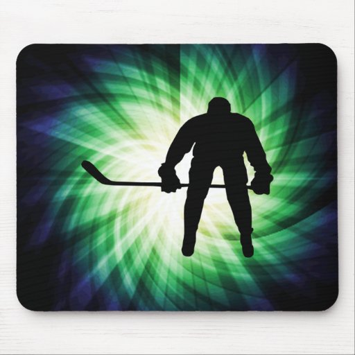 Jugador de hockey fresco tapete de ratones