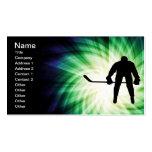 Jugador de hockey fresco tarjetas de visita