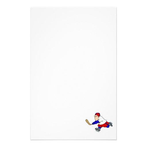Jugador de hockey gordo papeleria de diseño